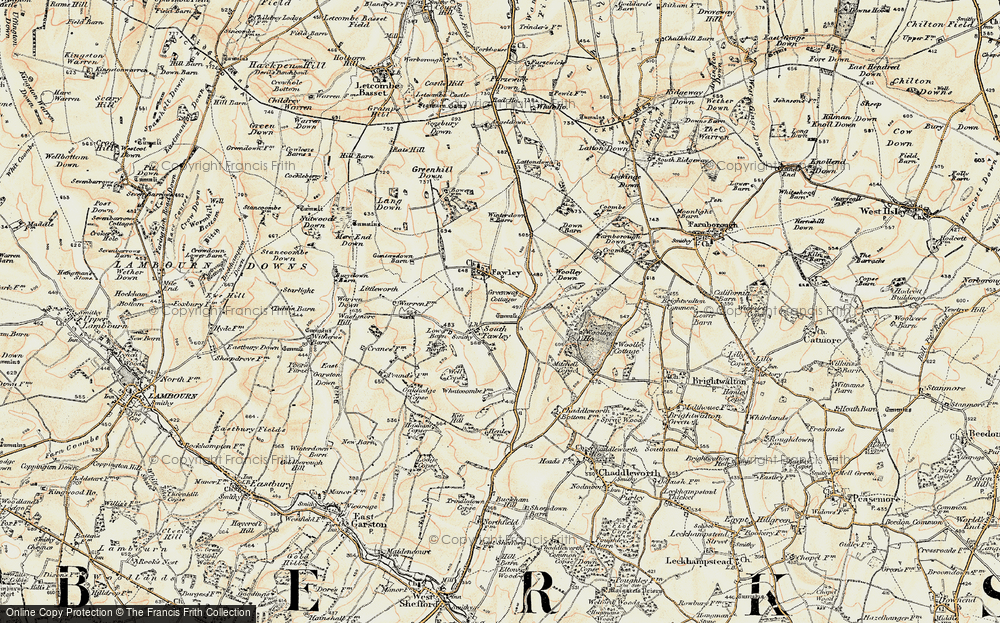Old Map of Historic Map covering Whatcombe in 1897-1900
