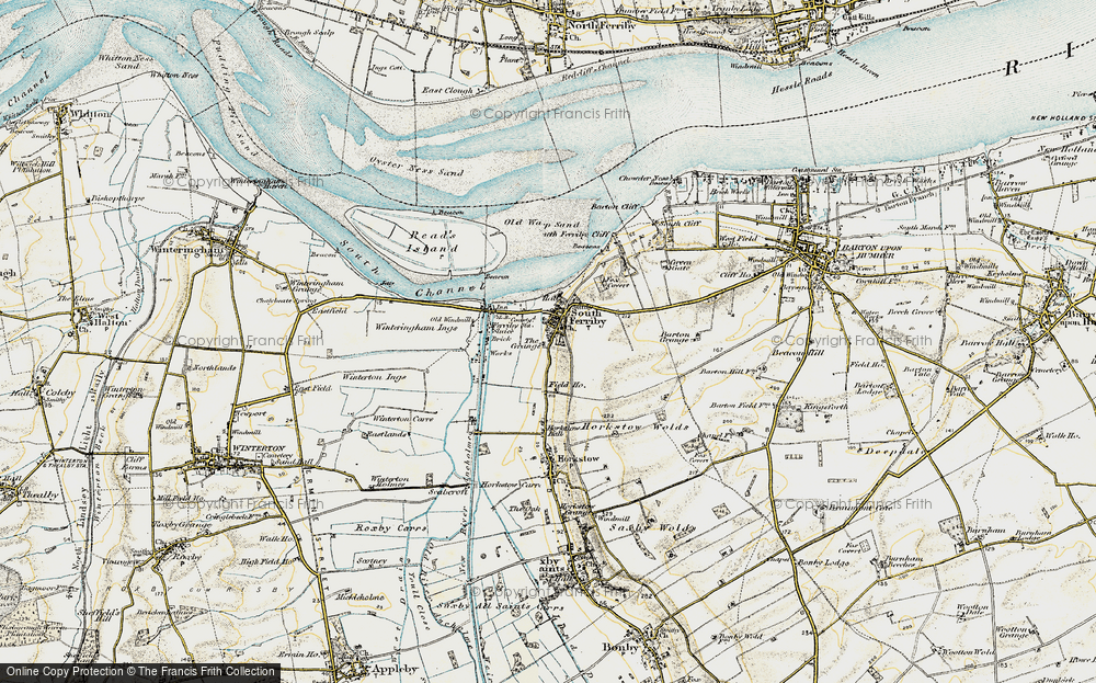 Old Map of South Ferriby, 1903-1908 in 1903-1908