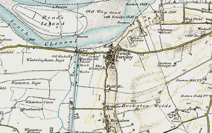 Old map of South Ferriby in 1903-1908