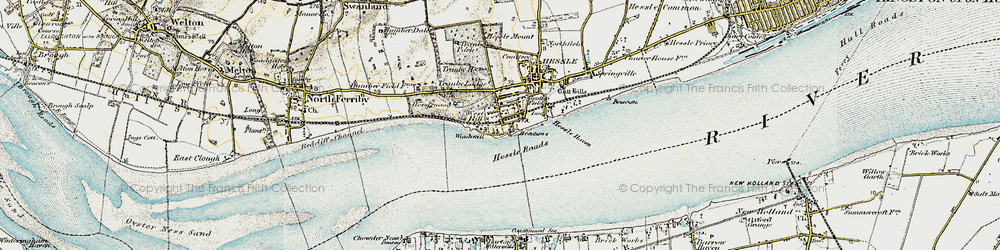 Old map of Yorkshire Wolds Way in 1903-1908