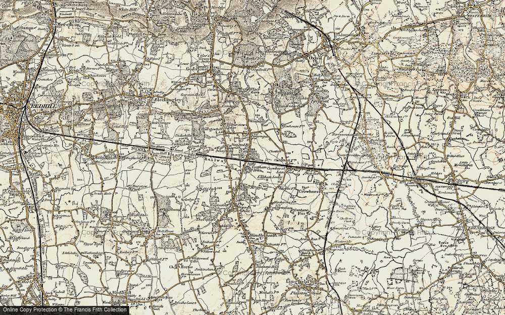 Old Map of South Godstone, 1898-1902 in 1898-1902