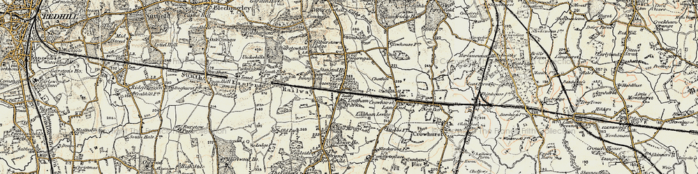 Old map of South Godstone in 1898-1902