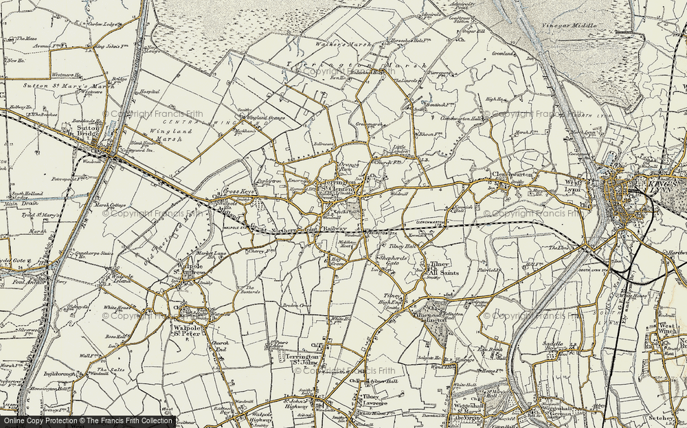 Old Map of Historic Map covering African Violet Centre in 1901-1902
