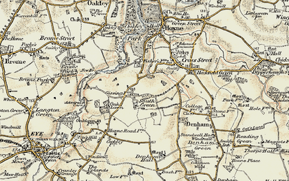 Old map of Admiral's Carr in 1901-1902