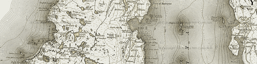 Old map of Wester Kame in 1912