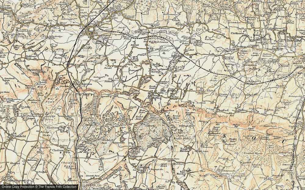 Old Map of South Harting, 1897-1900 in 1897-1900