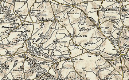 Old map of South Hill in 1899-1900