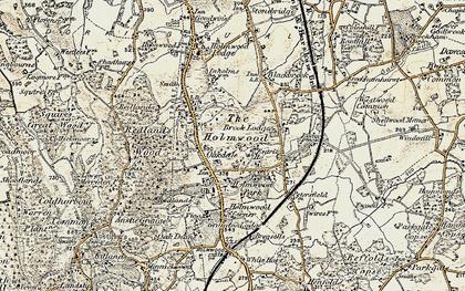 Old map of South Holmwood in 1898-1909