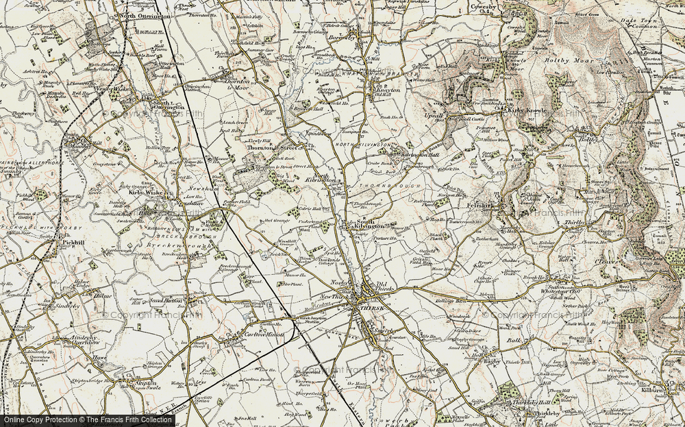 Old Map of Historic Map covering Woodhill Grange in 1903-1904