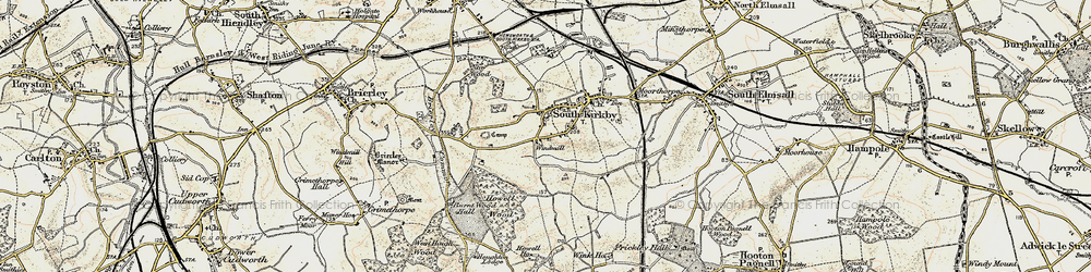 Old map of South Kirkby in 1903