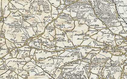 Old map of Wrigwell in 1899