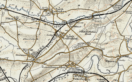 Old map of South Luffenham in 1901-1903