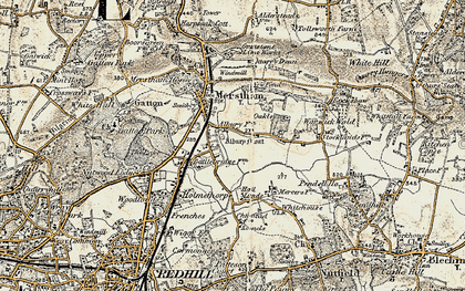 Old map of South Merstham in 1898-1902