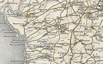 Old map of Whitlocksworthy in 1899