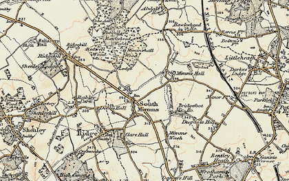 Old map of South Mimms in 1897-1898