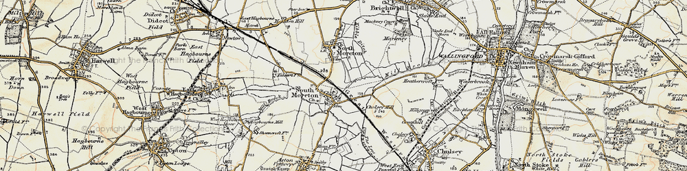 Old map of South Moreton in 1897-1898