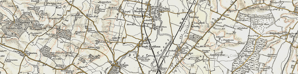 Old map of Winthorpe Lake in 1902-1903