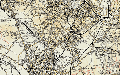Old map of South Norwood in 1897-1902