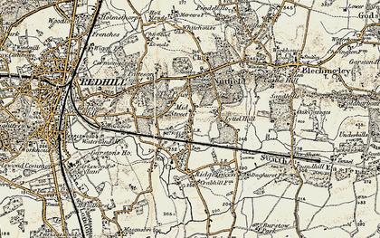 Old map of South Nutfield in 1898-1902