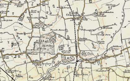 Old map of South Ockendon in 1897-1898