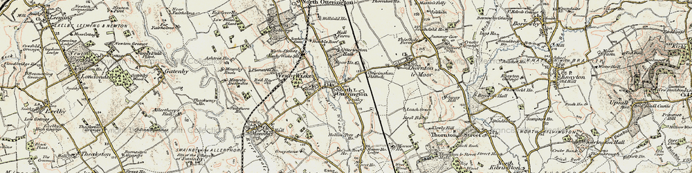 Old map of Whitley Grange in 1903-1904