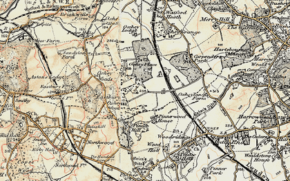 Old map of South Oxhey in 1897-1898