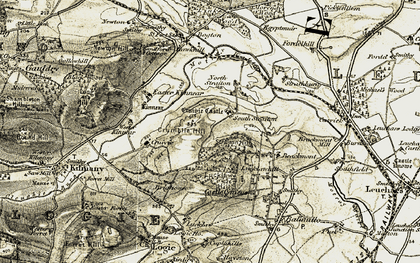 Old map of Wester Kinnear in 1906-1908