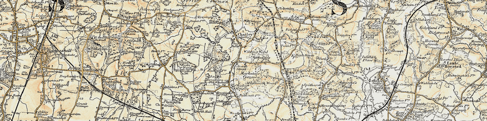 Old map of Wilding Wood in 1898