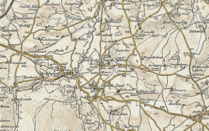 Old map of Willey in 1899-1900