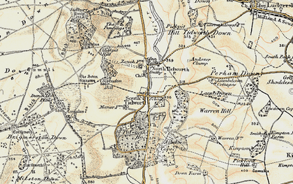Old map of South Tidworth in 1897-1899