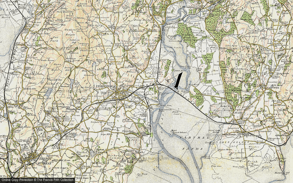 Old Map of South Ulverston, 1903-1904 in 1903-1904