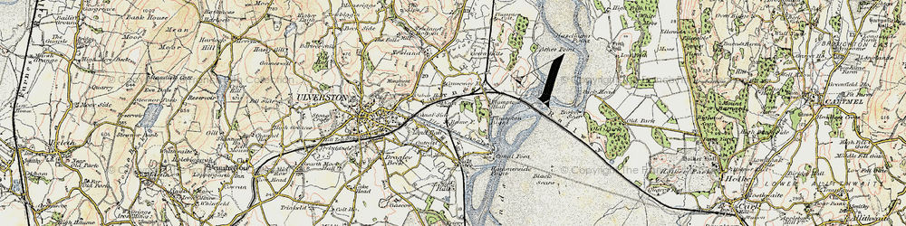 Old map of South Ulverston in 1903-1904