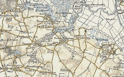 Old map of South Walsham in 1901-1902