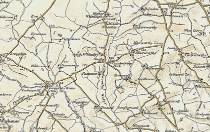 Old map of South Wheatley in 1900