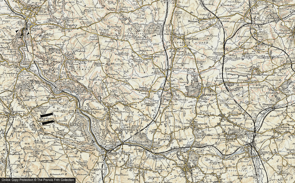 Old Map of South Wingfield, 1902-1903 in 1902-1903