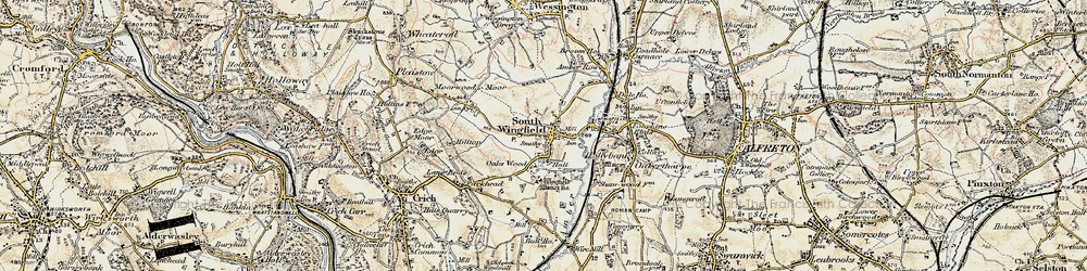 Old map of South Wingfield in 1902-1903