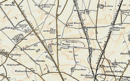 Old map of Worthy Down in 1897-1900