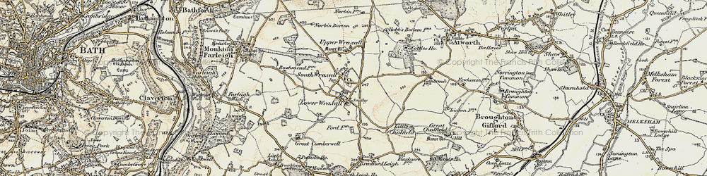 Old map of South Wraxall in 1898-1899