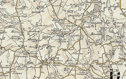 Old map of Lewmoor in 1899-1900
