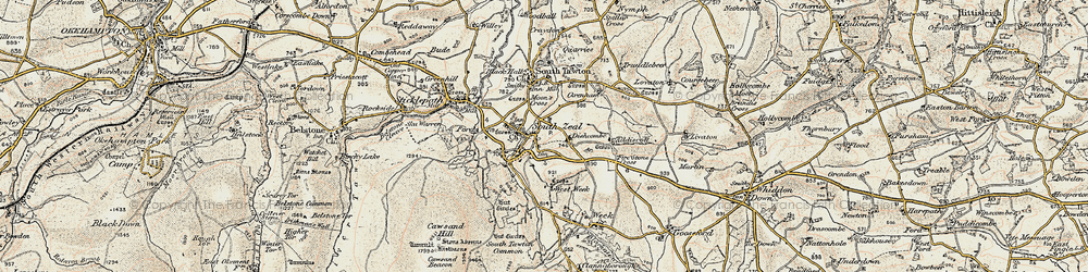 Old map of West Wyke in 1899-1900