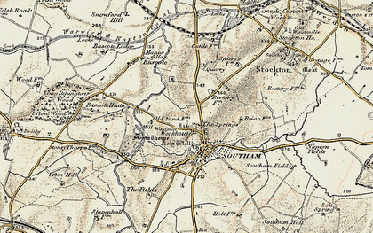 Old map of Southam in 1898-1902