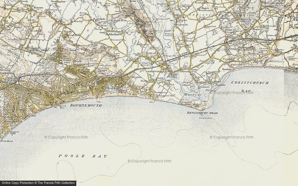 Old Map of Southbourne, 1899-1909 in 1899-1909