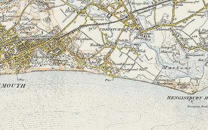 Old map of Southbourne in 1899-1909