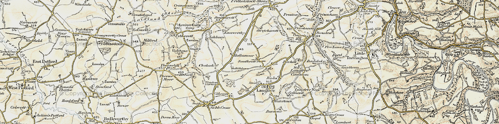 Old map of West Wooda in 1900