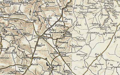 Old map of Southcott in 1900