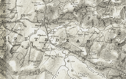 Old map of Law Plantn in 1901-1904