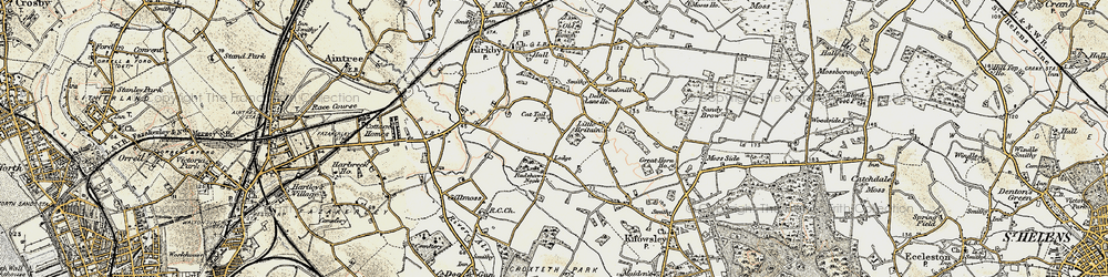 Old map of Southdene in 1902-1903