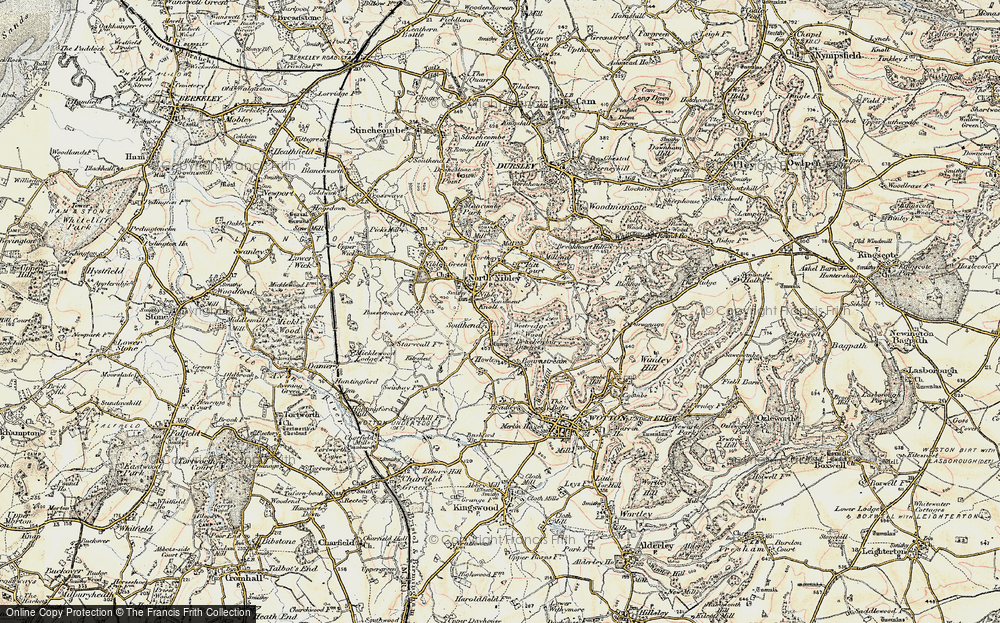 Old Map of Historic Map covering Westridge Wood in 1898-1900
