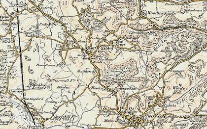 Old map of Westridge Wood in 1898-1900