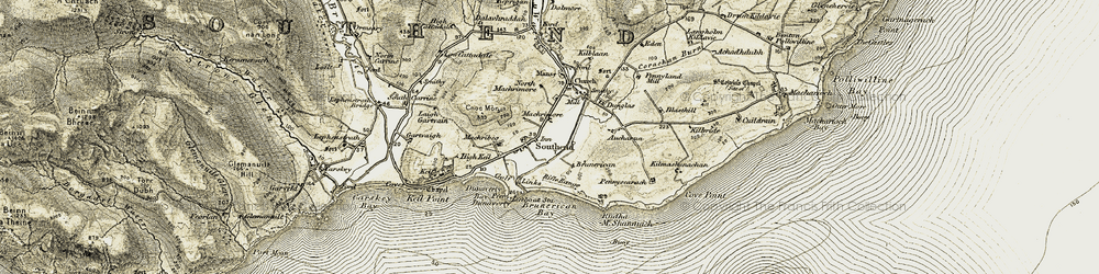 Old map of Lephenstrath in 1905